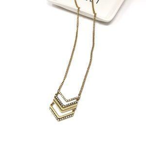 J. Crew Arrow Stack Long Necklace